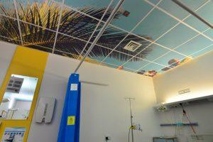 Plafondplaat geprint